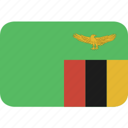 rectangle, round, zambia icon