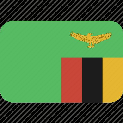 rectangle, round, zambia icon