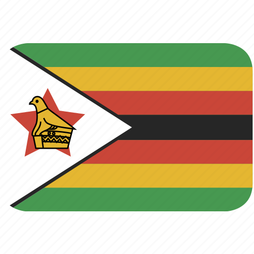 rectangle, round, zimbabwe icon