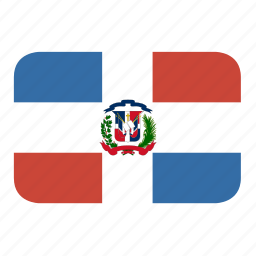 dominican, rectangle, republic, round icon