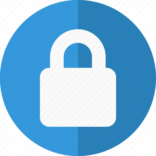 blue, closed, exclusive, guarantee, guard, lock, locked, login, members, padlock, premium, private, protected, safe, sealed, secure, strong icon