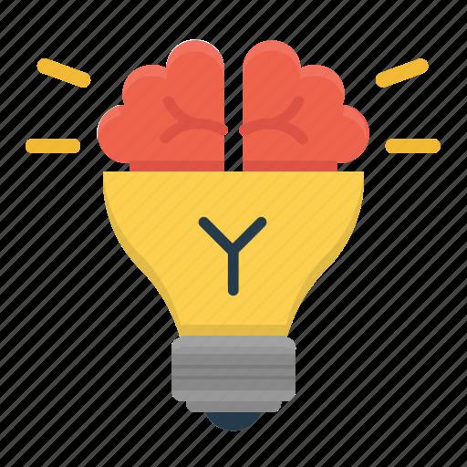 brain, bulb, creativity, idea, productivity icon