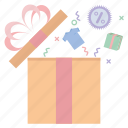 birthday, box, christmas, delivery, gift, holiday, offer