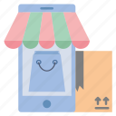 bag, delivery, mobile, online, phone, shopping, store