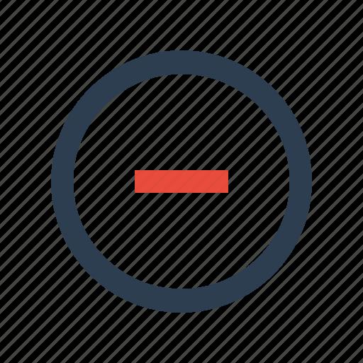 circle, close, delete, minus icon