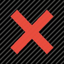 close, cross, cut, delete, trash, x icon