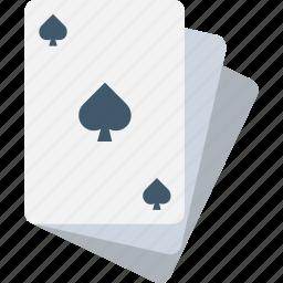 casino card, diamond card, playing card, poker card, spade card icon