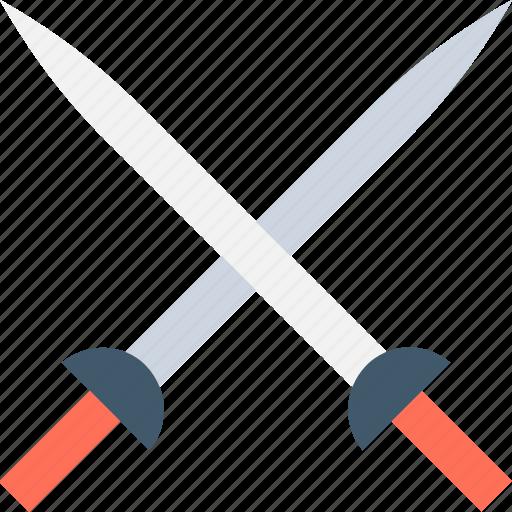 crossguard, medieval blade, medieval swords, swords, two swords icon