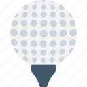 ball tee, golf ball, golf ball pin, golf tee, on tee icon