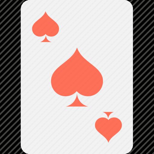 casino, gambling, playing card, poker card, spade card icon