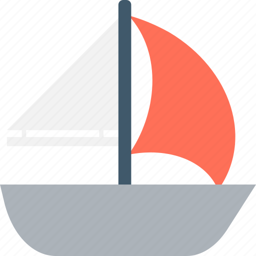 boat, sailboat, small boat, traveling, yacht icon
