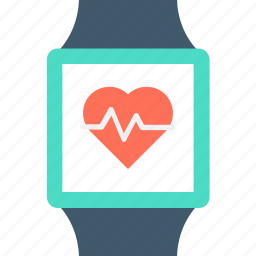 healthcare, heart rate, modern technology, smartwatch, wristwatch icon