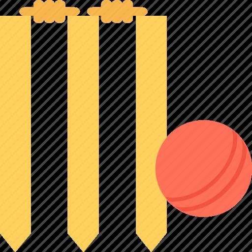 bails, cricket, cricket ball, stump wicket, wicket icon