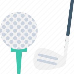 ball tee, golf ball, golf putter, golf tee, on tee icon
