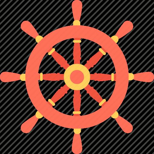 boat wheel, marine, ship steering, ship wheel, wheel icon