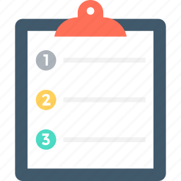 checklist, clipboard, diet plan, list, task icon