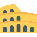 ancient, building, colosseum, monument, stadium icon
