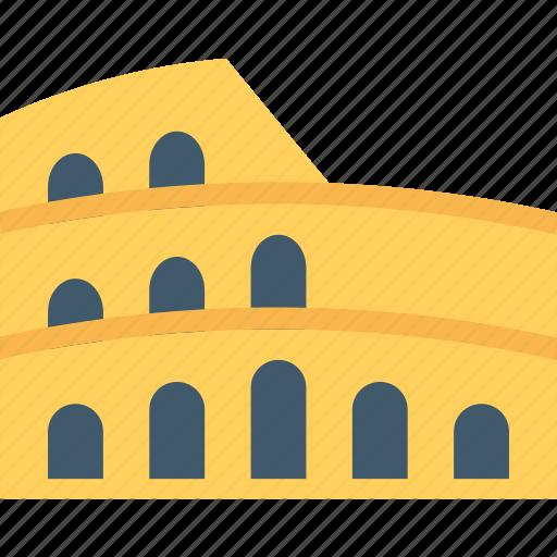 ancient, building, colosseum, monument, stadium icon