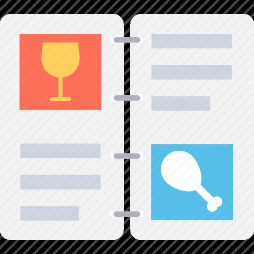 bill of fare, carte du jour, cuisine, menu, restaurant menu icon