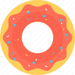 bakery food, dessert, donut, food, refreshment icon
