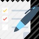 agenda, catalog, checklist, list, schedule