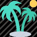 beach, coconut tree, date tree, palm, palm tree