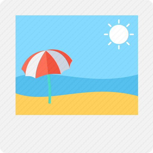 beach, image, photograph, picture, sun icon