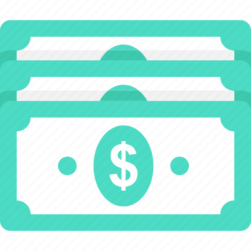 dollar, finance, income, money, paper money icon