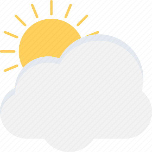 cloud, season, summer, sun, weather icon