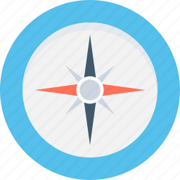 cardinal points, compass, directional tool, gps, navigation icon
