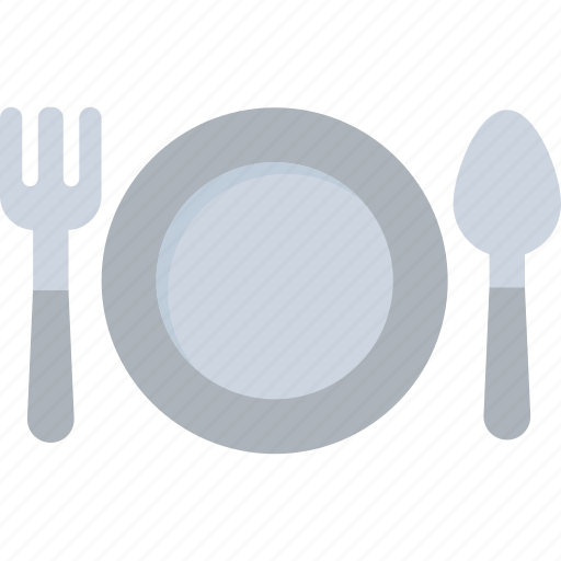 dining, fork, plate, restaurant, spoon icon