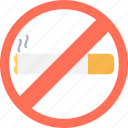 cigarette forbidden, don't smoke, no smoking, quit smoking, tobacco prohibition icon