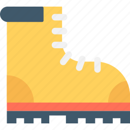 boot, footwear, gumboot, hiking boot, shoe icon