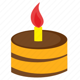 birthday, cake, fire, food, happy, sweet icon