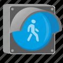 blue, go, light, man, pedestrian, traffic icon