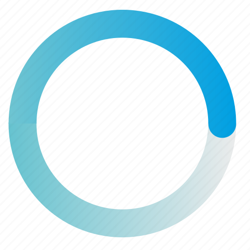 circle, gradient, load, loader, process, radial, round icon