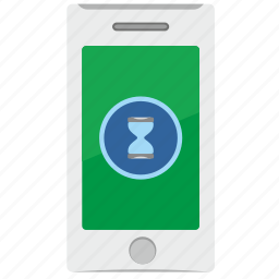 complete, loading, mobile, phone, process icon