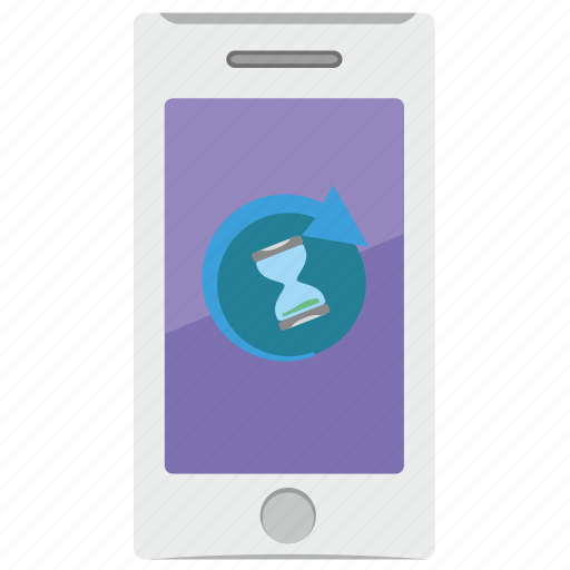end, loading, mobile, phone, process icon
