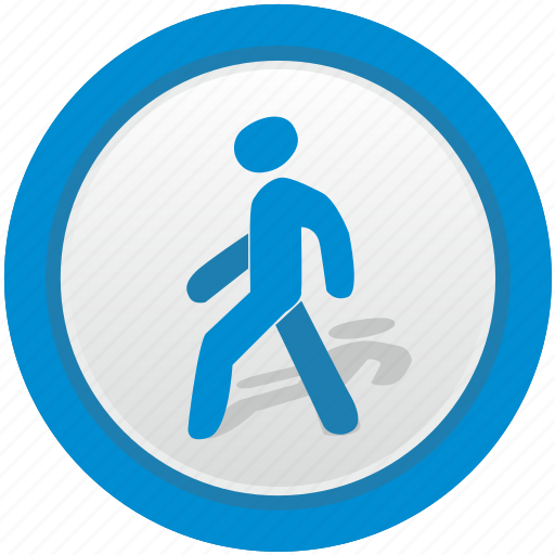 attention, forward, go, man, poi, road, sign icon