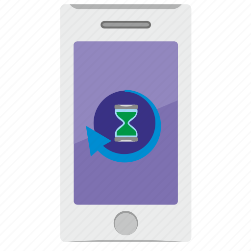 full, loading, mobile, phone, time icon