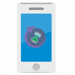 loading, mobile, phone, process, wait icon