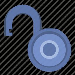 access, enter, lock, open, padlock icon