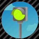 accept, direction, light, single, traffic, way icon