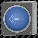 arrow, direction, left, light, traffic, way icon