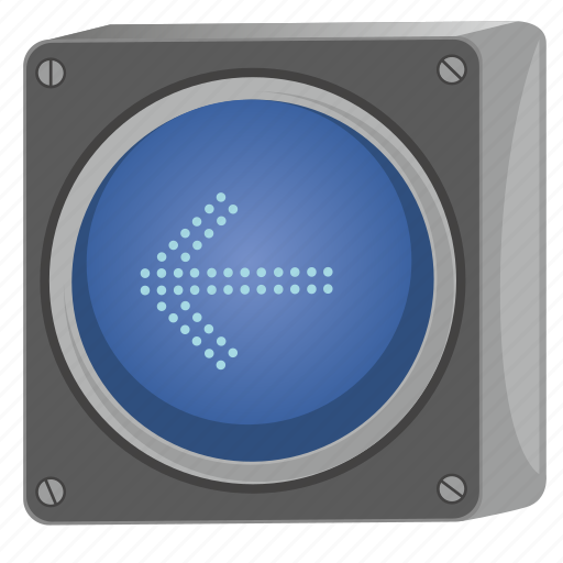 arrow, direction, left, light, traffic, way icon
