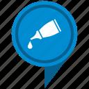 drop, fluid, gel, glue, pointer icon
