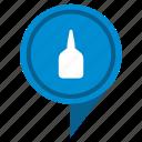 fluid, gel, glue, place, pointer icon