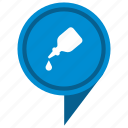 drop, fluid, gell, glue, place, poi, pointer icon