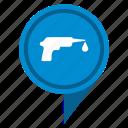 drop, fluid, gel, glue, pistol icon