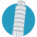 europe, famous place, landmark, leaning tower, monument, pisa tower, tower icon